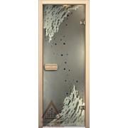 Дверь для бани АКМА АРТ с Фьюзингом 9й ВАЛ 7х19 (коробка липа)