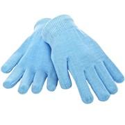 Увлажняющие перчатки с гелевой пропиткой, цвет голубой фото