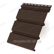 Софит коричневый «Ю-Пласт», частично перфорированный фото