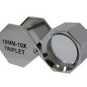 Лупа никелированная 10х, 18 мм (шестигр.), арт 171B фото