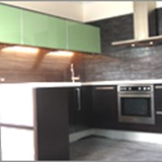 Кухни с МДФ шпонированый фасад фото