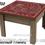 Стол-трансформер 2 в 1 журнальный + обеденный с декоративной столешницей фото