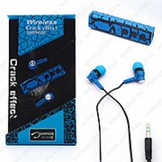 Bluetooth наушники Crack effect MS-808 BLUE с микрофоном фото