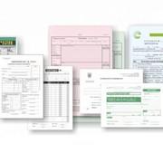 Счета, накладные, товарно-транспортные накладные, и другие виды бухгалтерских бланков. фото
