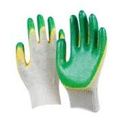 Перчатки хб с двойным латексным обливом фото