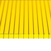 Поликарбонат сотовый 12000х2100х6 желтый фото