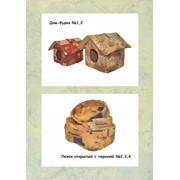 Дом Будка №1, №2 и лежак открытый №1, 2, 3, 4 (ткань флок мебельный) фото