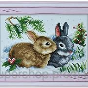 Набор для вышивки картины Зайчики 31х25см 373-37010691 фото