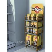 60-010 - Стеллаж/стойка под корм для животных 1700*600*350 мм фото