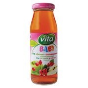 Сок (нектар) яблоко - шиповник осветленный для детского питания Vita фото