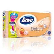 Туалетная бумага Zewa Deluxe Персик 3-х сл. 8рул. 21м (х7) фото