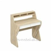 Стол для ноутбука, Сканди 110 Корпус Дуб сонома, фасады белые