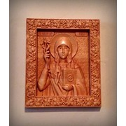 Икона резная свт. Нина, просветительница Грузии фото