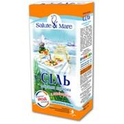 Соль натуральная пищевая морская Salute di Mare мелкая с ламинарией фото