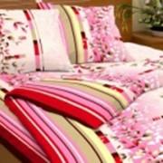 Ткань постельная Бязь 100 гр/м2 150 см Набивная Шепот листвы розовый/S335 TDT фото