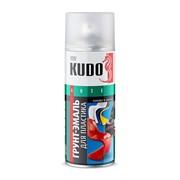 КУДО KU-6003 Грунт-эмаль для пластика белая аэрозольная (0,52л) фото