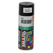 Краска эмаль Алкидная (KUDO) 520 мл черный глянец фото
