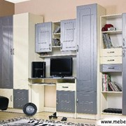 Детская комната Юниор МДФ Металлик фото