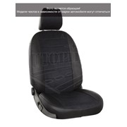 Чехлы Mitsubishi Pajero Sport II (ристайлинг) 14 черный аригон + черная алькантара Автопилот фото