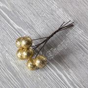 Букетик глиттерных шариков на проволоке, 6 штук, цвет Золотой фото