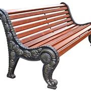 Металлические, деревянные, чугунные, кованые скамейки фото