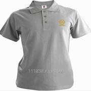 Рубашка поло Opel серая вышивка золото фото