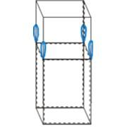 Контейнер мягкий Биг-бэг 72,5х72,5х120, 4 стропы, плотность 120г/м2, с верхней сборкой фото