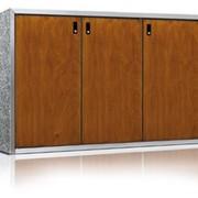 Шкаф для трех контейнеров емкостью 240 литров, Линия Сайлент