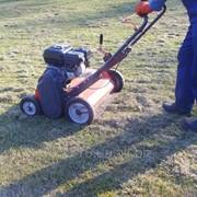 Вычесывание газона. фото
