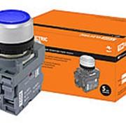 Кнопка MP1-21L(LED) в сборе d22мм/220В 1з+1р синяя TDM фото