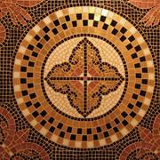 Мозаика, ручная работа. Материал: смальта, золото, бизаццо. фото