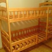 Двухъярусная кровать из массива, 80*190*150/170