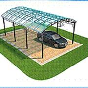 Навес для автомобиля (Длина - 4м, ширина - 3,5м, высота 2,5м) фото
