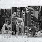 Модульна картина на полотні Нью-Йорк. Манхеттен код КМ100160-105-2 фото
