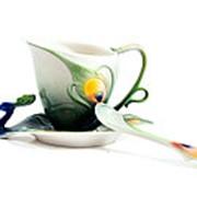 """Подарочный чайный набор """"Павлин"""" на 1 персону 15*11*12см. 111521 фото"""
