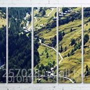 Модульна картина на полотні Зелені гори код КМ100150(150)-057 фото