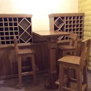 Мебель из массива для винных погребов фото
