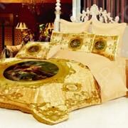 Комплект постельного белья Барокко. 2-спальный, золотистый фото