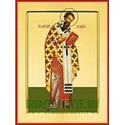 Храм Покрова Богородицы Василий Великий, святитель, икона на сусальном золоте (дерево 2 см с ковчегом) Высота иконы 10 см фото
