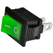 Выключатель MRS-101A (KCD1-101, SC-768) мини, зеленый, (2с) фото