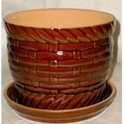 Кашпо керамическое 'Корзиночка - 2' фото