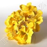 """Цветы искусственные """"Соцветие гортензии"""", цвет Желтый фото"""