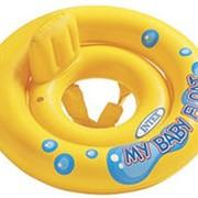 """Круг для плавания """"My Baby Float"""" с сиденьем и спинкой 67см Intex 59574 фото"""