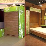 Подъемная кровать с зеркалом фото