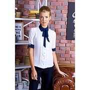 Блуза на пуговицах с бантом (2 расцветки ) фото