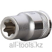 Торцовая головка Kraftool Industrie Qualitat , Cr-V, внешний Torx , хромосатинированная, 1/2, Е 18 Код:27810-18_z01 фото