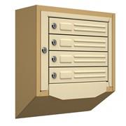 Антивандальный почтовый ящик Кварц-4, бежевый
