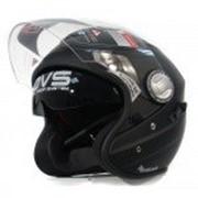 IXS Открытый шлем с большим стеклом HX91 матовый черный фото