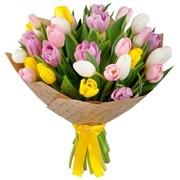 Букет цветов из тюльпанов фото