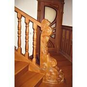 Лестница из лиственницы Л-05 фото
